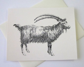 Goat Note Cards Stationery Set of 10 Cards