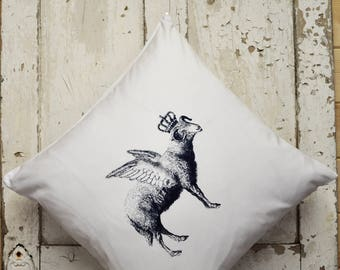 """Cushion Cover -  """"The Royal Collection"""" - Flying Sheep"""