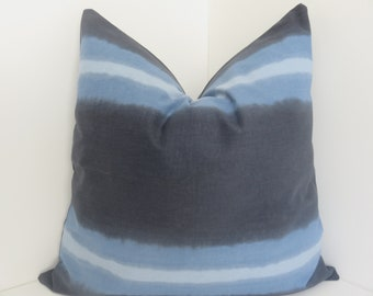 Robert Allen Ombre Panel Indigo Pillow Cover