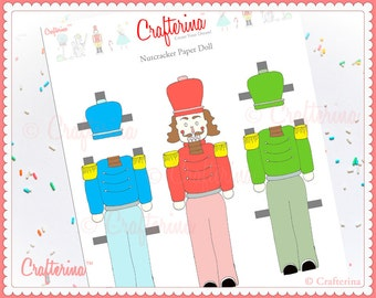 Clara from the nutcracker paper doll craft kit diy print and nutcracker paper doll craft kit diy print and create educational activity ballet and dance solutioingenieria Image collections