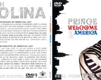 Prince Welcome 2 America - Carolina 4 dvd set