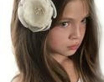 Hair Bows Hair clip choose color, Flower Hair Bow Baby Hair clip, Baby headband,Baby headbands, White Hair Bow pink ivory