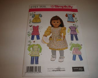18 inch Doll Simplicity pattern 2761  New uncut               item No. 2761