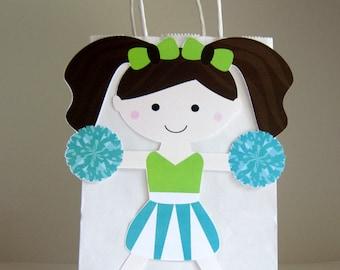 Cheerleader Goody Bags, Cheerleader Favor Bags, Cheerleader Gift Bags, Cheerleader Party Bags