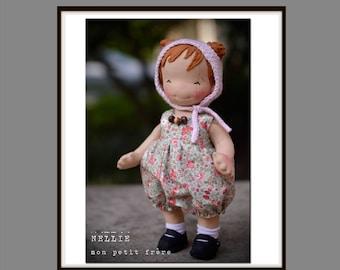 "PDF Pattern book to make 10"" baby doll"