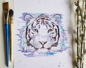 tiger, tiger head, jungle animals, tiger print, tiger art, tiger decor, jungle nursery decor, safari animals, jungle baby shower, jungle art