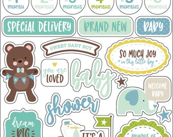 Sweet Baby Boy Enamel Words & Phrases