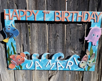 Birthday, Baby Shower, Wedding,Finding Nemo, Dory or any theme you want Party Photo Prop Frame