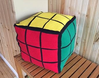 Rubik's cube pillow solved version