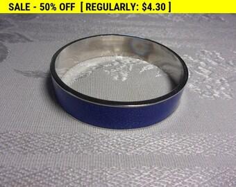 Blue Enamel bangle bracelet