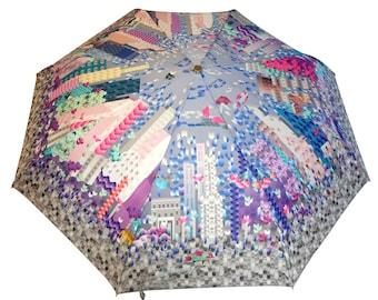 City Center Umbrella (unique design, automatic, three-folding, 27 cm length)