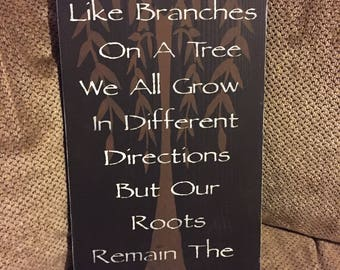 family tree wood sign, family sign, wood sign, family roots, rustic wood sign, rustic sign