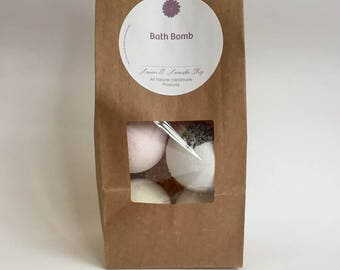 Bath Bomb Set of 4 - Bath Bomb Gift Set - Bath Bombs - All Natural Bath Bombs