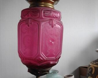 Baccarat pressed glass candle lantern
