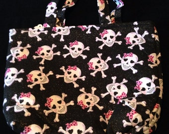 Girly Skull Tote