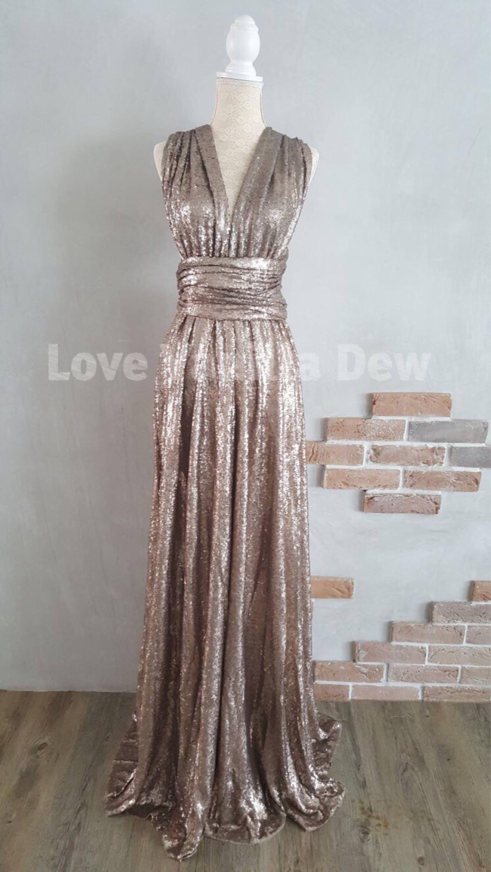 Bridesmaid dress infinity dress gold sequin floor length maxi zoom ombrellifo Image collections