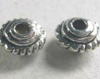 70-Tibetan Silver Spacer Beads-4 mm-FREE toggle (1B12)