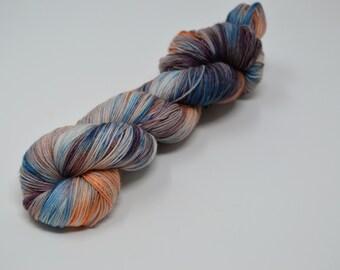 Addy Socks, Stardust Sparkle, sparkle yarn, hand dyed yarn, handdyed yarn,handdyed sock yarn, sock yarn, BFL Yarn, Cashmere yarn,Pirate Ship