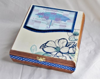 Memory Box, Wedding Advice Box, Wedding Alternative Guest Book, Words of Wisdom, Shower Guest Book
