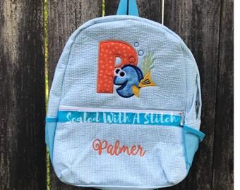 Seersucker Backpack, Finding Dory, Finding Nemo