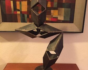 Unusual Brutalist Mid Century Modern Signed Sculpture