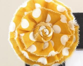 ADD ON Large Yellow Polka Dot Flower