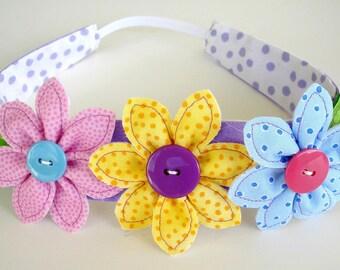 Sewing Pattern - Flowers, Leaf & Narrow Headband - PDF e-Pattern
