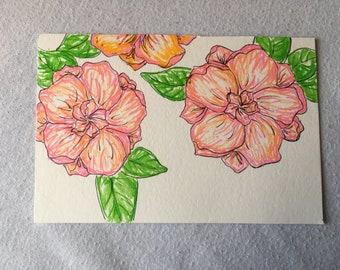 Floral Marker Illustration