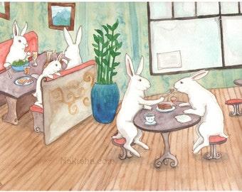 Our Dessert - Fine Art Print - Rabbits