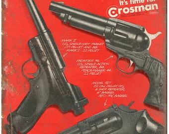"Crosman BB Gun C02 Pistol Target Vintage Ad 10"" x 7"" Reproduction Metal Sign"