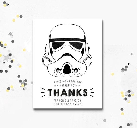 Stormtrooper Thank You Card Star Wars printable Card Darth