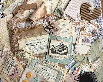 Recipe Tag and Embellishment Kit