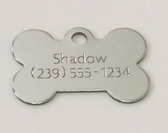 Dog Tag, Engraved Dog Tag, Dog Name Tag, Personalized Pet Tags, Pet ID Tags, Custom Dog Tag, Pet Name Tag, Engraved Pet Identification