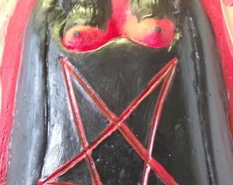 "Pomba Gira The Devil Girl Altar Statue,Santeria The Religion,11""x5"",Satanica"