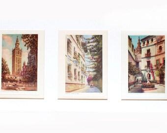 Original litographs, Spanish wall art, original prints, spanish painting, Seville, Spain, Giralda