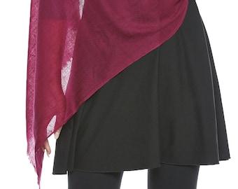 Prune Cashmere Hijab - Hand Woven