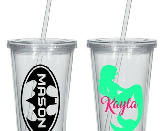 Personalised 16oz Plastic Tumbler / Cup - gift idea, great for Kids, Bridal Parties, Bachelorette / Hens Nights, Weddings.
