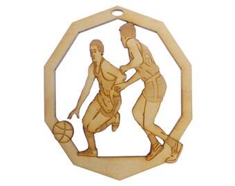 Personalized Basketball Ornament, Men, Basketball Christmas Ornaments - Basketball Coach Gift - Personalized Basketball Gift
