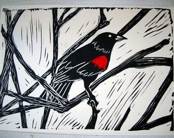 Red-Winged Blackbird Note Card