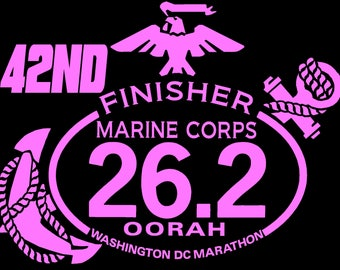 42nd 2017 or any year Marine Corps Marathon Finisher Decal