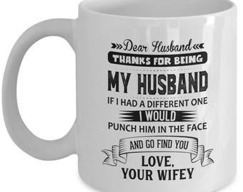 Dear husband- 11oz coffee mug