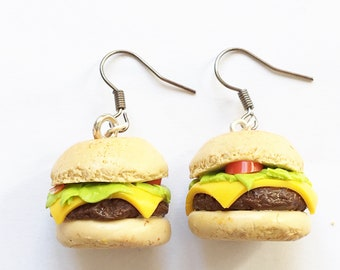 Hamburger earrings. Hamburger earrings