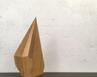 Beech Geometric Polygon Sculpture