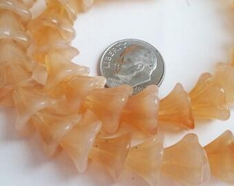 Czech glass Bell flower caps