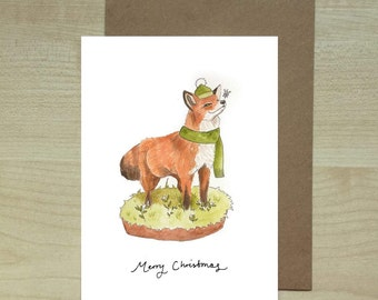 Fox and Snowflake Christmas Card