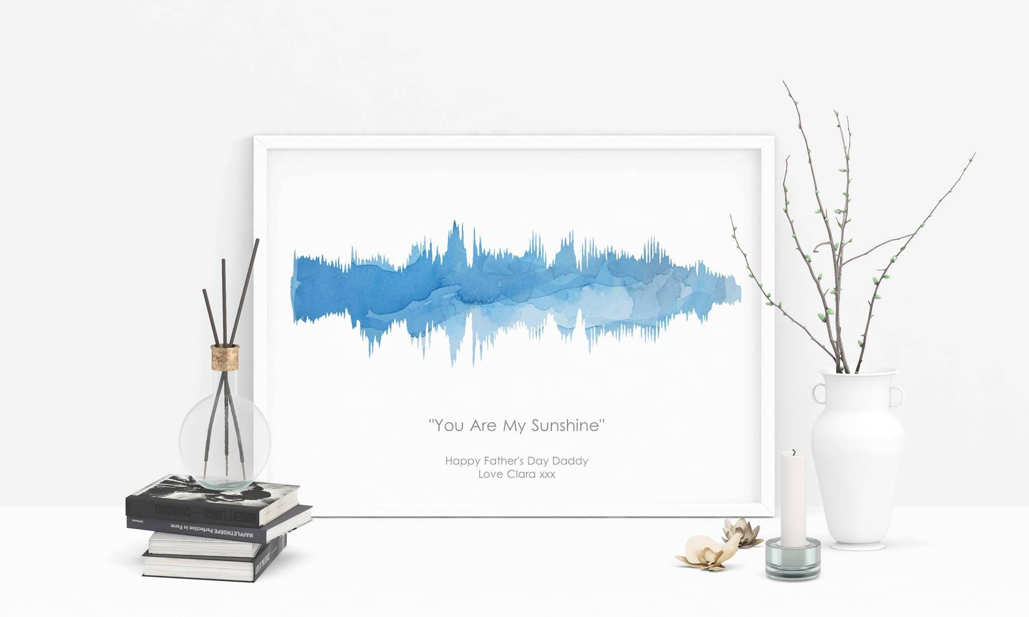 Schallwelle Wand-Kunst-Geschenk Geschenke der Musik