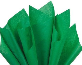 Festive Green Tissue Paper . 20 x 30 inches . 24 sheets