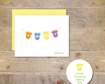 Baby Thank You Cards . Baby Shower Thank You Cards . Baby Shower Thank You Notes . Thank You Cards Baby - Baby Onesies