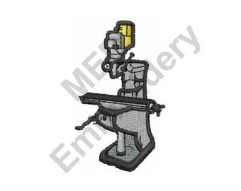 Drill - Machine Embroidery Design, Drill Press