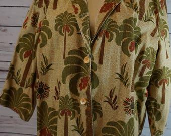 Vintage Lightweight Palm Tree Jacket